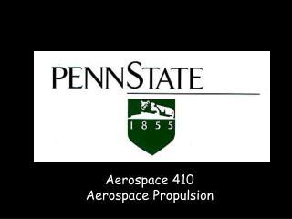 Aerospace 410 Aerospace Propulsion