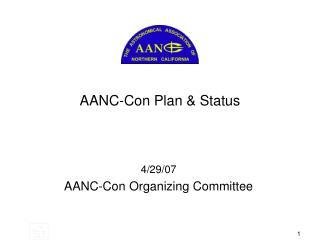AANC-Con Plan  Status