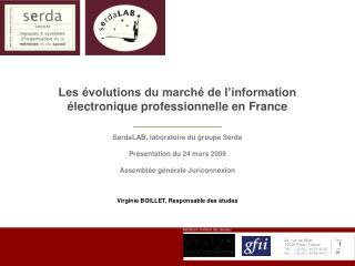 Les  volutions du march  de l information  lectronique professionnelle en France