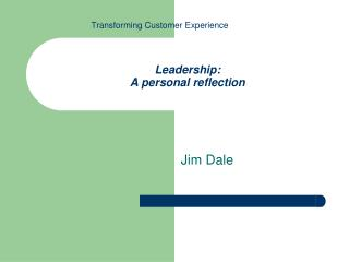 Leadership: A personal reflection
