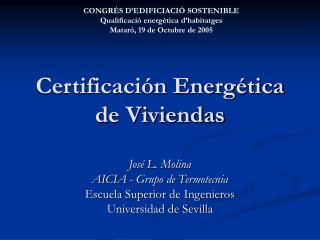 Certificaci n Energ tica de Viviendas