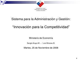 Ministerio de Econom