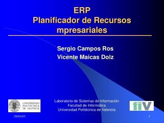 ERP Planificador de Recursos mpresariales
