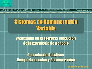 Sistemas de Remuneraci n Variable