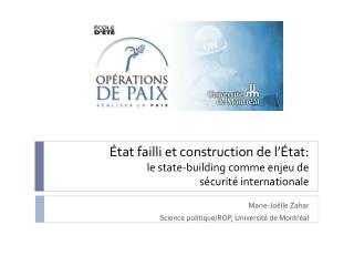 tat failli et construction de l  tat:  le state-building comme enjeu de  s curit  internationale