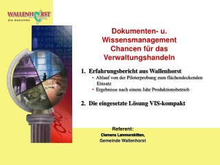 Dokumenten- u. Wissensmanagement  Chancen f r das Verwaltungshandeln