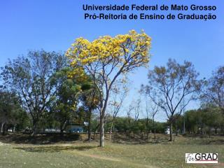 Universidade Federal de Mato Grosso Pr -Reitoria de Ensino de Gradua  o