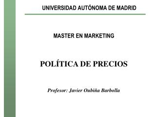 UNIVERSIDAD AUT NOMA DE MADRID