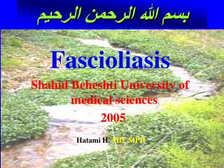 Fascioliasis  Shahid Beheshti University of medical sciences   2005   Hatami H. MD. MPH