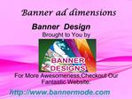 Banner ad dimensions