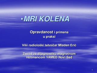 MRI KOLENA