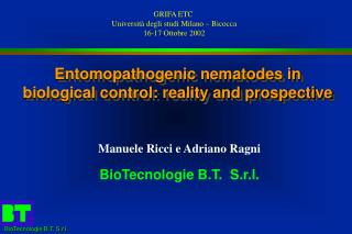 Entomopathogenic nematodes in biological control: reality and prospective