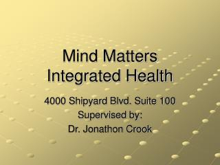 Mind Matters Integrated Health