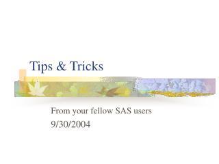 Tips  Tricks
