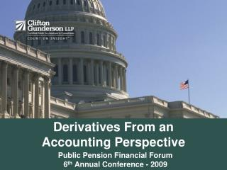 Derivatives From an Accounting Perspective
