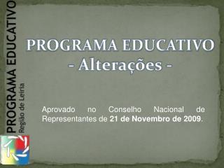 PROGRAMA EDUCATIVO - Altera  es -