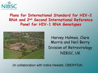Plans for International Standard for HIV-2 RNA and 2nd Second International Reference Panel for HIV-1 RNA Genotypes