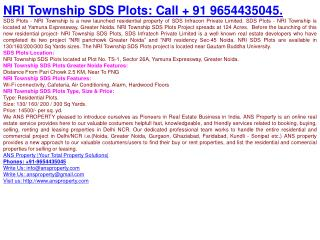 NRI Township SDS Plots