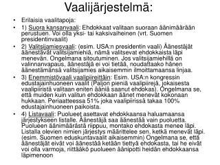 Vaalij rjestelm :
