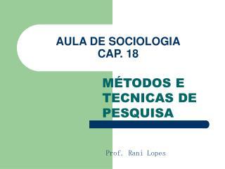 AULA DE SOCIOLOGIA CAP. 18