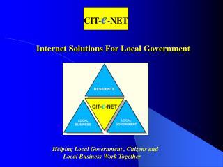 Cit-e-Net Tax Payment Presentation