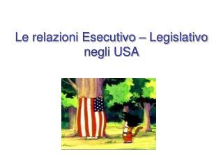 Le relazioni Esecutivo   Legislativo negli USA
