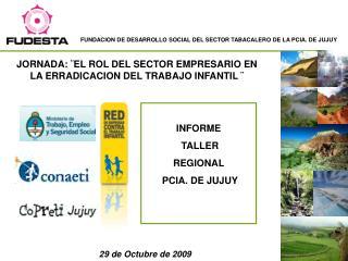 INFORME  TALLER  REGIONAL  PCIA. DE JUJUY