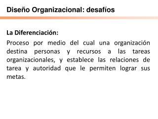 Dise o Organizacional: desaf os
