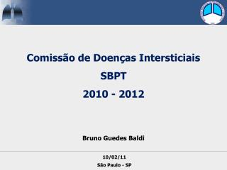 Comiss o de Doen as Intersticiais SBPT 2010 - 2012