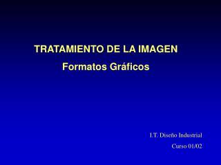 TRATAMIENTO DE LA IMAGEN Formatos Gr ficos