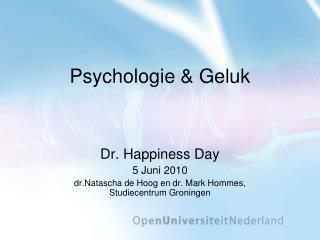 Psychologie  Geluk