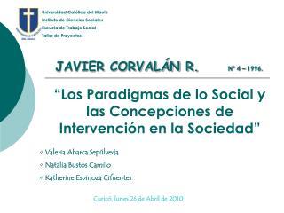Los Paradigmas de lo Social y las Concepciones de Intervenci n en la Sociedad