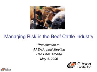 Managing Risk in the Beef Cattle Industry