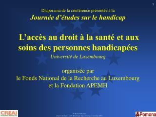 Dr Bernard Az ma  Journ e d  tudes sur le Handicap - Luxembourg 27 Octobre 2005