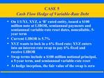 CASE 5  Cash Flow Hedge of Variable-Rate Debt