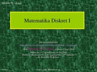 Matematika Diskret I