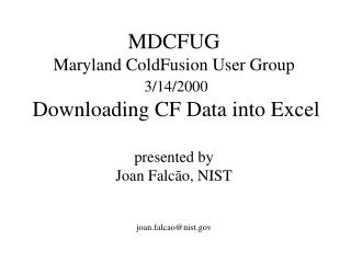 MDCFUG Maryland ColdFusion User Group  3