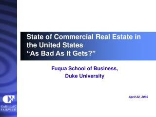 State of Commercial Real Estate in the United States