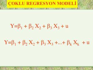 OKLU REGRESYON MODELI