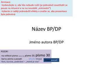 N zev BP