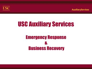 USC Auxiliary Services