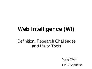 Web Intelligence WI