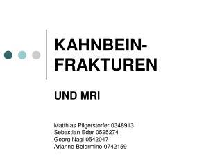 KAHNBEIN-FRAKTUREN
