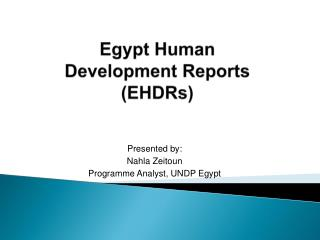 Egypt Human  Development Reports  EHDRs