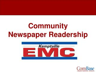 Community Newspaper Readership