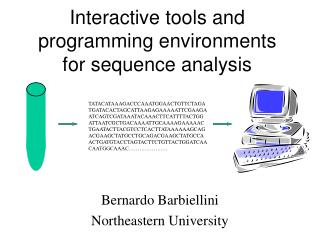 Interactive tools and programming environments for sequence analysis