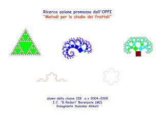 Alunni della classe IIB  a.s 2004-2005 I.C.  G.Rodari  Baranzate MI Insegnante Susanna Abbati