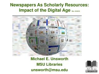 apers As Scholarly Resources: