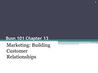 Busn 101 Chapter 13