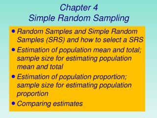 Chapter 4: Sampling and Estimation